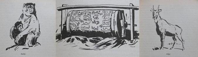 tomek na tropach yeti - ilustracje