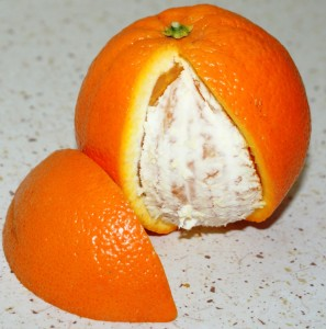 skórki z pomarańczy