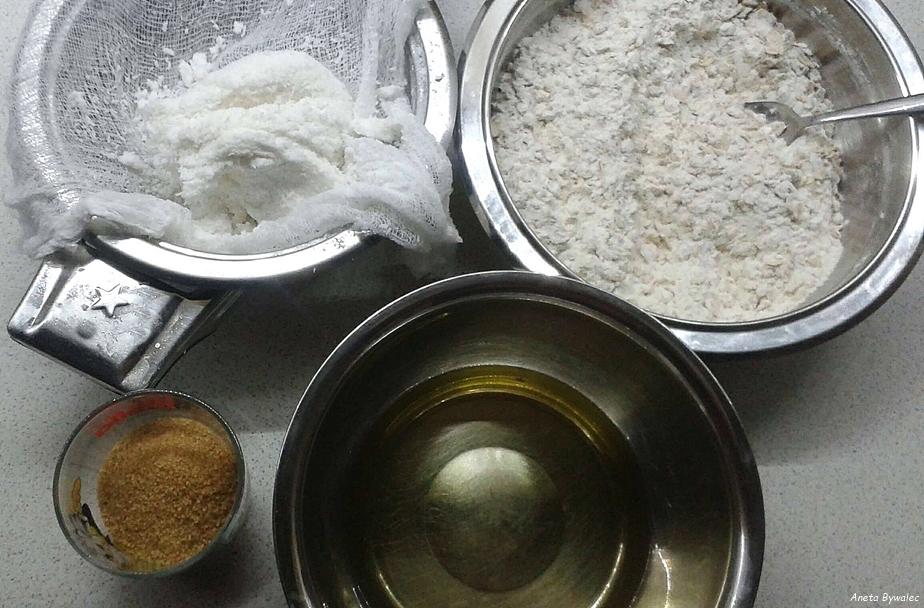 wegańskie ciasteczka kokosowe z odzysku - składniki