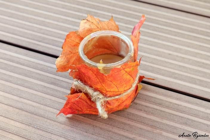 skarby jesieni - świeczka