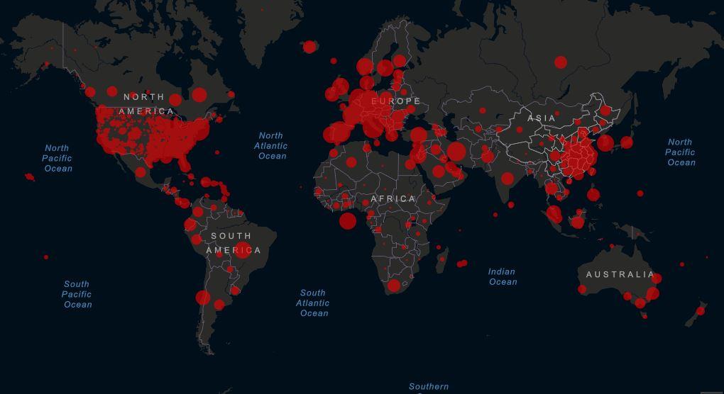 Czy wiosna poskromi koronawirusa? Mapa zarażeń COVID-19 - stan na dzień 27.03.2020