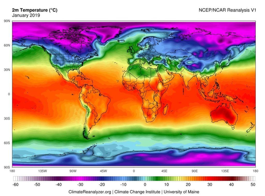 Czy wiosna poskromi koronawirusa? Zestawienie średnich temperatur w styczniu 2019 roku